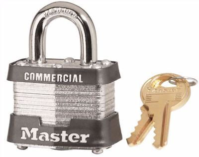 Master Lock 3ka Commercial Padlock With Brass Key