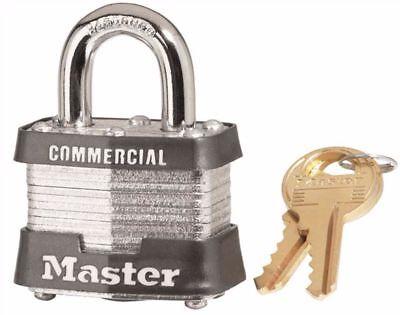 Master Lock 3ka Commercial Padlock With Brass Key