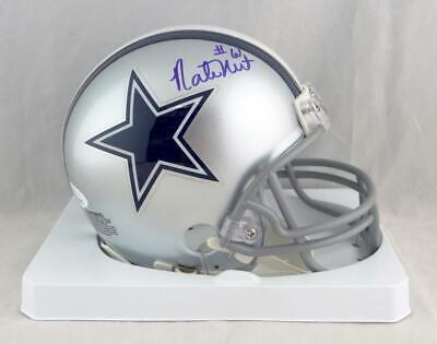 1814f896cd9 Nate Newton Autographed Dallas Cowboys Mini Helmet- JSA W Auth *Blue w/ #