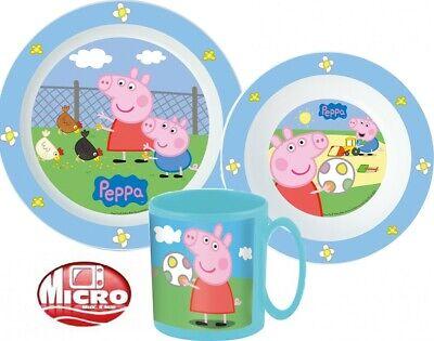 Peppa Pig Wutz Miko Geschirr- Frühstücksset inkl. Geschenkverpackung
