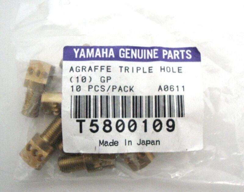 Yamaha Genuine Parts Clasp Triple Hole 10 Piece Piano Brass Spare Parts