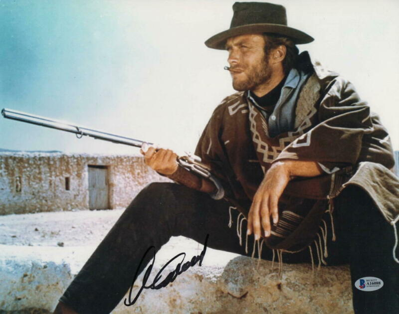 CLINT EASTWOOD SIGNED AUTOGRAPH 11x14 PHOTO - DITY HARRY, HOLLYWOOD ICON BECKETT