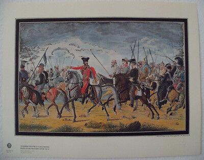 Naumann J.Friedrich, russische Reiterei Lichtdruck NEU Pferde Reiter Kunstdruck