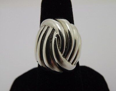- Sterling Silver 925 Free Form Braid Design Solid Made Ring Setting