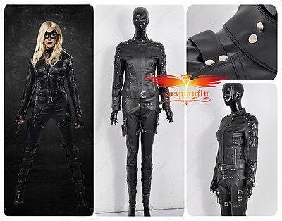 Green Arrow Season 4 Black Canary Sarah Lance Suit Cosplay Costume Custom