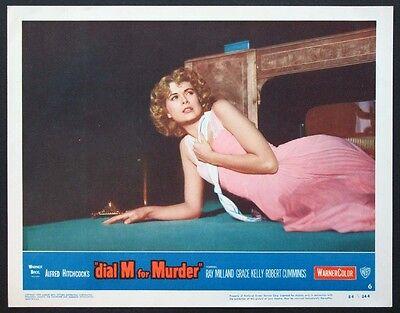 DIAL M FOR MURDER GRACE KELLY HITCHCOCK 1954 LOBBY CARD #6 NEAR MINT