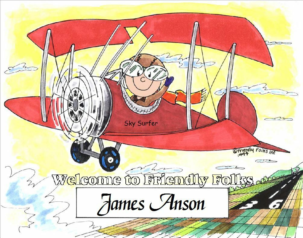 Small Personalized Pilot Picture - Makes A Great Gift  - $8.50