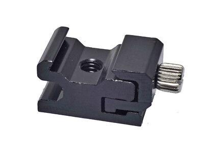 Adjustable Speedlite Cold Shoe 1/4 Screw to Flash Hot Shoe Mount Adapter