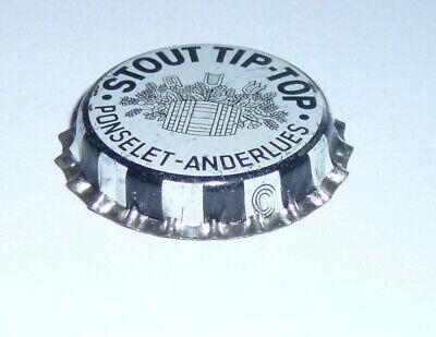 RARE Ancienne capsule de bière STOUT TIP - TOP PONSELET - ANDERLUES
