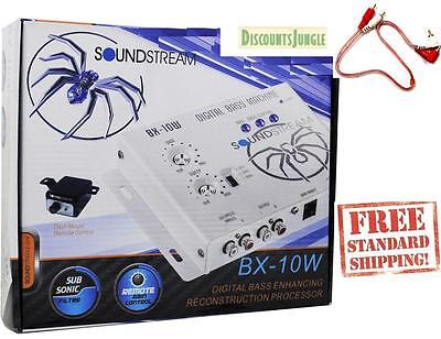 SoundStream BX-10W BX-10 Digital Bass Processor with Remote + 1.5 FEET RCA CABLE