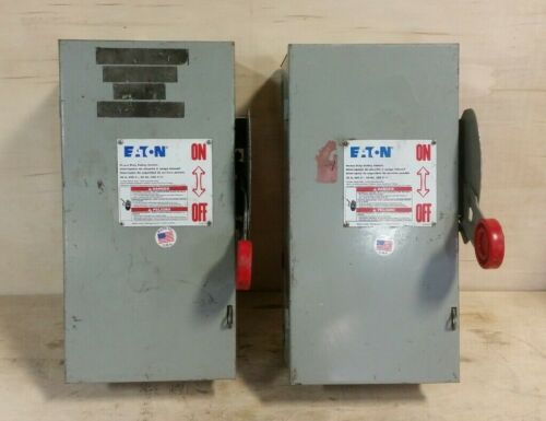 *LOT OF 2* Cutler Hammer 30A 600V Disconnect Switches DH361UGK S28