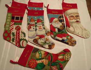 North-Pole-Trading-Company-christmas-stocking-needlepoint-embroidered-nwt-choice