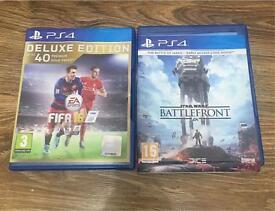 PS4 Fifa16, Star Wars Battlefront