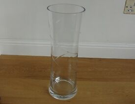 M&S Extra Large Glass Vase, 43cm Tall - PERFECT CONDITION