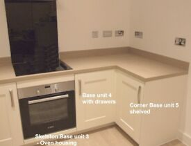 Complete set of Shaker-style cream kitchen units & appliances **new**