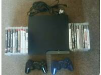 ps3 slim plus 17 games.