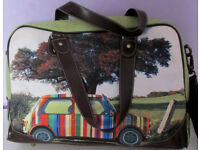 Genuine used Large Paul Smith hobo mini car print laptop signature crossbody messenger bag briefcase
