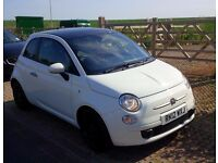 White 2012 Fiat 500 TwinAir Hatchback Petrol Black Roof and Black Smoked Alloys (start/stop)