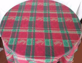 Round Christmas Tablecloth/ Table Cloth
