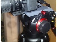 Manfrotto 546B 504HD tripod video head with carry bag
