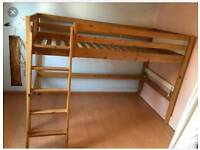 Cabin style ikea high bed