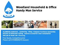 Woodland Handyman Services PlUMBER , TILER, Furniture Assembly, Free Quotes (Slough)