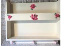 SHABBY CHIC STORAGE SHELF /HANGING RAIL