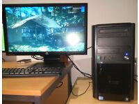 Gaming PC Core i5 4 x 3.2GHz 12GB RAM Radeon HD7850 2GB 256bit SSD+HDD DVDRW Win10 Pro Fully Tested