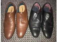 2 pairs of men's work/smart shoes