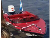 SOLD...Shark Speedboat 50hp Suzuki (DT50) Outboard