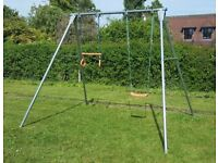 TP Double Metal Swing with 2 Seats and Trapeze Bar