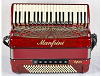 Manfrini 120 Bass - 4 voice Musette - MIDI - Hand Made Reeds - Manfrini Accordion Number 1