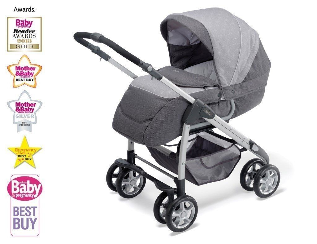 * Silver Cross Freeway/Linear Oxford Grey Travel System - Like New *
