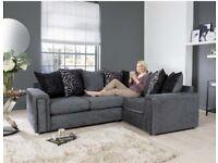 Grey brand new corner sofa free delivery