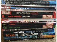 Graphic Novels inc Batman, Spider-Man, Thor, signed Kickass - £170 ONO
