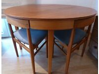 Retro 60/70s Teak dining Extendable Table chairs & Sideboard