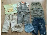 Baby boys summer clothing bundle age 6-9 mth