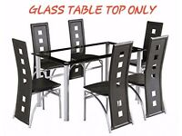 Yakoe Glass Dining Table - GLASS TOP ONLY - Brand New - Boxed