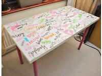 Fun, quirky and colourful table