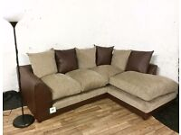 New Dever fabric corner sofa FREE DELIVERY