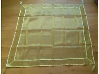 NEW MEDIUM Gold Tablecloth Organza Voile Piping Tassel Luxury Tableware Catering Hire Fabric Wedding