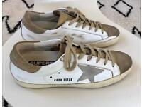 Golden Goose distressed leather trainers