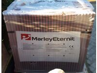 MARLEY ETERNIT OLD ENGLISH DARK RED ROOF TILES (APPROXIMATELY 215 BRAND NEW TILES)