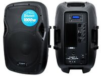 KAM Portable Mains Powered PA System with 2 channel mixer and MP3 Player + Bluetooth Receiver