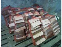 Seasoned logs in nets