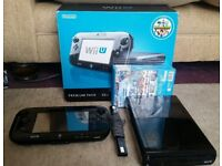 Nintendo Wii U 32gb Premium Console with 3 games inc Mario Black Boxed