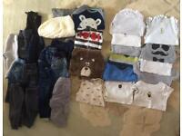 Large bundle of boys clothing 9-12 months
