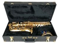 BUFFET CRAMPON -EVETTE- ORIGINAL BRASS ALTO SAXOPHONE & FITTED CARRY CASE BOX