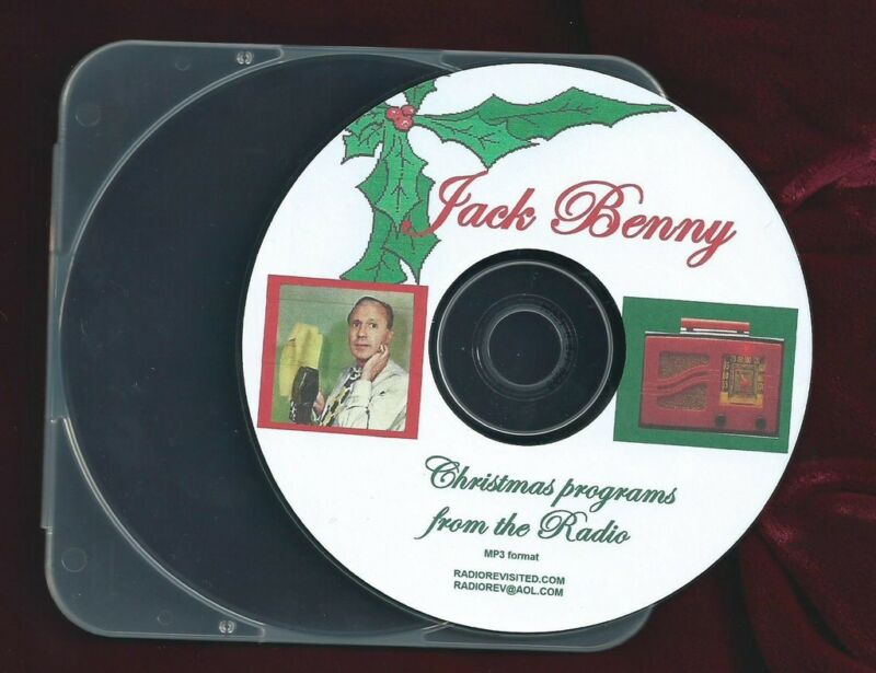 JACK BENNY BEST OLD TIME RADIO CHRISTMAS & NEW YEAR SHOWS MP3 CD  OTR