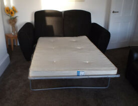 Hynos Double Black Sofa Bed